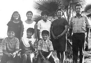 Cesar Chavez with his family