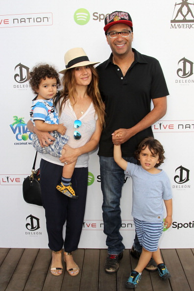 Tom Morello with his family