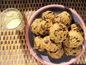 Carob Cranberry Cookies